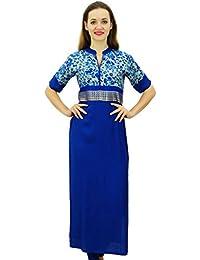 26ed4381e73 Bimba Designer Dames De Rayonne Kurti Droite Kurta Bollywood Inde Blouse  Tunique