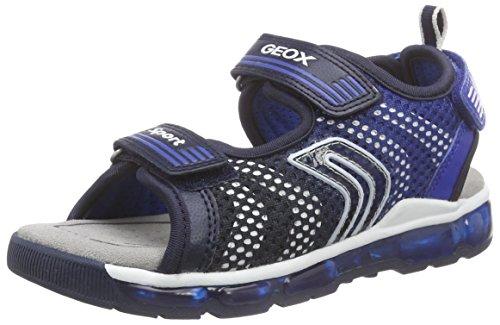 Geox J Sandal Android Boy, chaussures à bouts ouverts garçon - bleu - Bleu - Bleu marine/bleu roi (C4226), 32 EU