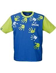 Spalding - Camiseta de baloncesto infantil, tamaño S, color royalblau / verde