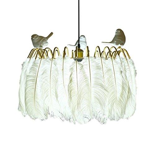 RRC %Indoor Deckenleuchte Moderne kreative weiße Feder Pendelleuchte/warme Schlafzimmer Bar Tisch Wohnzimmer Esszimmer Lampe Fenster Bekleidungsgeschäft Kronleuchter Energieniveau [A +++] (Color : B) -