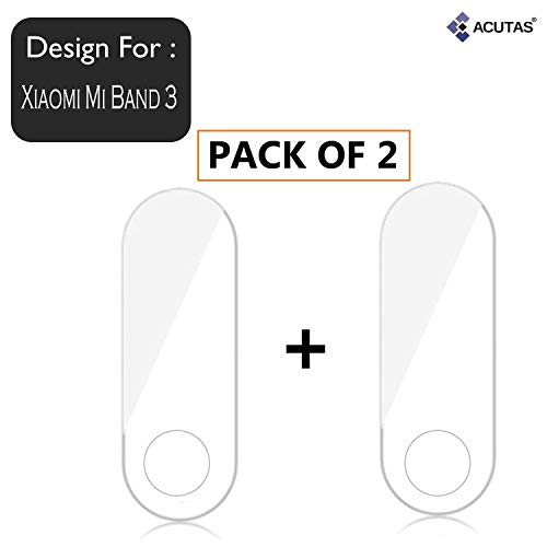 ACUTAS® Screen Scratch Guard Protector Film for Xiaomi Mi Band 3 (Pack of 2)