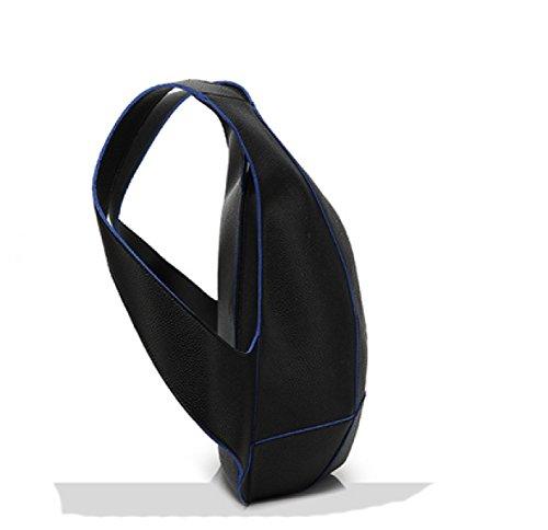 LAIDAYE Art Und Weise Der Großen Kapazität Rucksack Schultern Diebstahl Blue