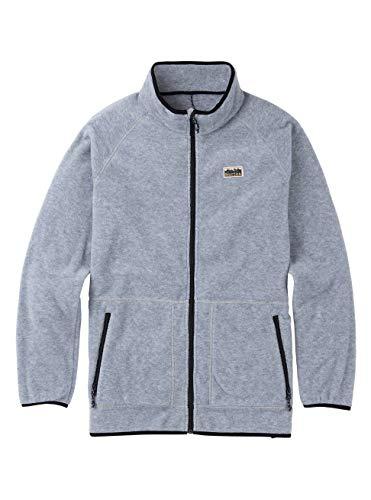 Burton Herren Ember Full-Zip Fleece Pullover, Gray Heather, M Burton Full Zip Sweatshirt