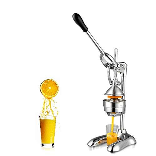 Professionelle handelsübliche Zitruspresse, schwere Handpresse, manuelle Fruchtpresse, für gewerbliche Geschäfte geeignet, entspricht der Ergonomie, Silber