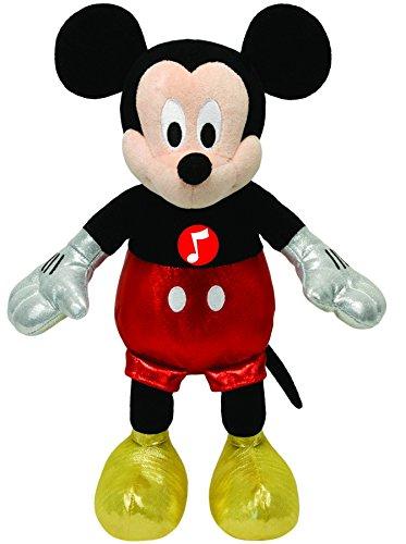 TY 41072 - Disney - Mickey Glitter mit Sound, glitzernde Kleidung, 20 cm (Beanie Ty Mickey)