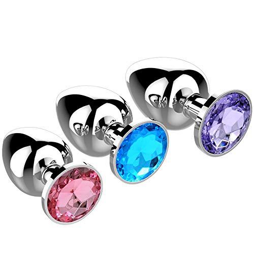Voixy Plugs de Jouets Métal Avec Trois Tailles L/M/S Rose Blue Violet