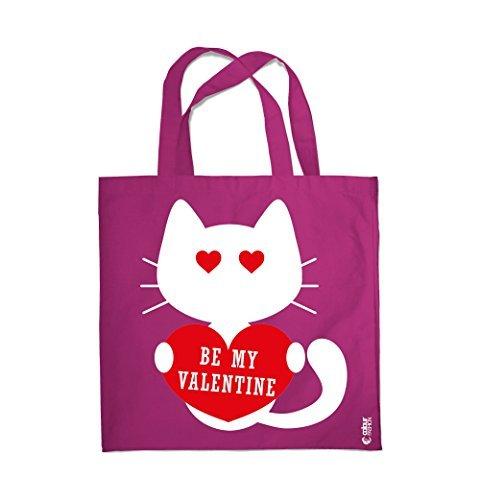 COLOUR FASHION Be My Valentino In Love GATTO NERO SPESA BORSA DA SPIAGGIA BORSA 0100 rosso vino