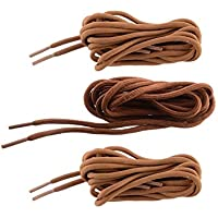 SHOESHINE INDIA Polyester Men's and Women's Round Shoe Lace, 120cm(Brown and Tan)