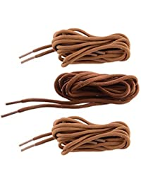 Shoeshine India round shoelaces casual shoe lace hiking trekking boot laces (Pack of 3)