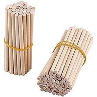 Akozon Palos de madera redondos 100pcs 80mm, para artesanía de madera,bricolaje decoración,