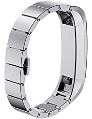 Fitbit Alta HR Armband, OverDose Edelstahl Uhrenarmband Armband für Fitbit Alta HR Smart Watch