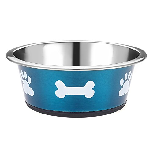Classic Posh Paws Pet Products Dog Dish, Small, 900 ml, Azul