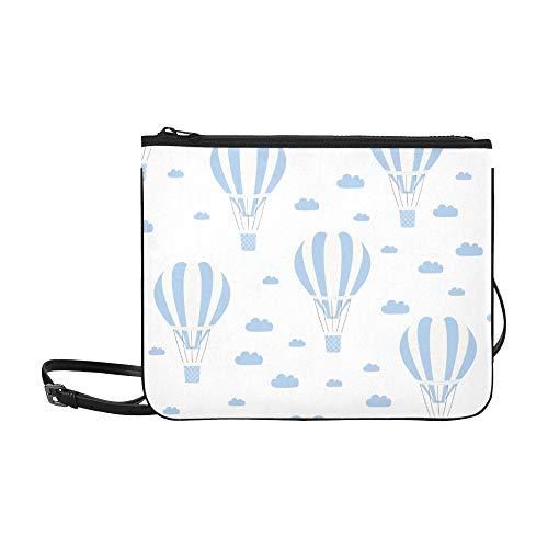 edlich Ballon Aquarell Muster benutzerdefinierte hochwertige Nylon dünne Clutch Cross Body Tasche Umhängetasche ()
