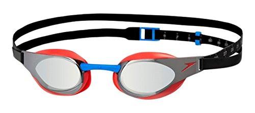 Fastskin Erwachsene Elite Mirror Goggles, Red/Silver, One size