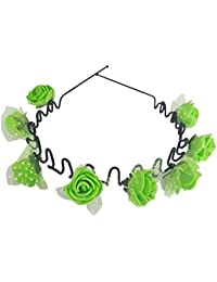 New Different Style Hair Accessories / Hair Bands / Head Bands For Kids, Girls & Women (ZigZag Bands,Green)