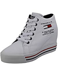 Amazon shoes Zeppa Hilfiger Bianco Casual Wedge Sneaker Denim 76bfyYvg