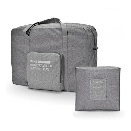 VORCOOL Faltbare Reisetasche Gepäcktasche Große Kapazität mit Reißverschluss (Grau)