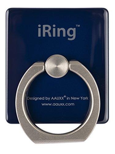 iRing Premium UNIVERSAL Smartphone Ständer, Haltegriff und AutohalterunDAS ORIGINAL, Selfie Ständer, Handy Ring, Handyhalterung Auto, Kfz Halterung, Midnight Blue (Blue Handy)