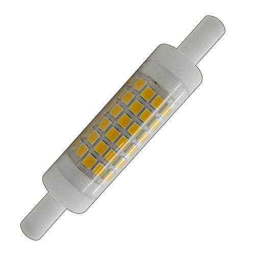R7s LED 5 Watt warmweiß 78mm x 15mm (sehr kleiner Durchmesser) Leuchtmittel Lampe Halogen j78 Fluter Brenner Scheinwerfer Flutlicht - Slim Brust