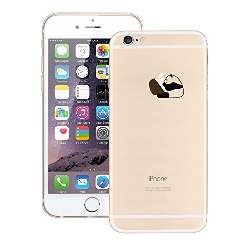 GrandEver iPhone 6/iPhone 6S Hülle Weiche Silikon Handyhülle Gel Transparent TPU Bumper Durchsichtig Schutzhülle für iPhone 6/iPhone 6S Rückschale Klar Handytasche Anti-Kratzer Stoßdämpfung Ultra Slim Richtigen Panda