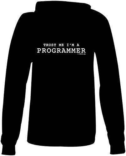 Trust me i am a Programmer ★ Confortable veste pour femmes ★ imprimé de haute qualité et slogan amusant ★ Le cadeau parfait en toute occasion schwarz