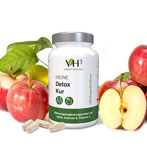 Meine Detox Kur 60 Kapseln für die natürliche Entgiftung das Körpers 100% Vegan Premium Qualität in Deutschland hergestellt