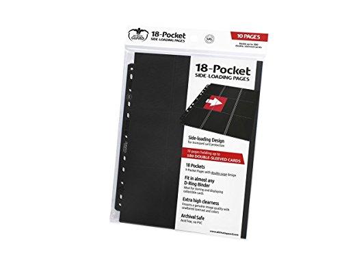 Ultimate Guard UGD010404 - 18 Pocket Pages Side Loading, Einsteckhülle, schwarz -