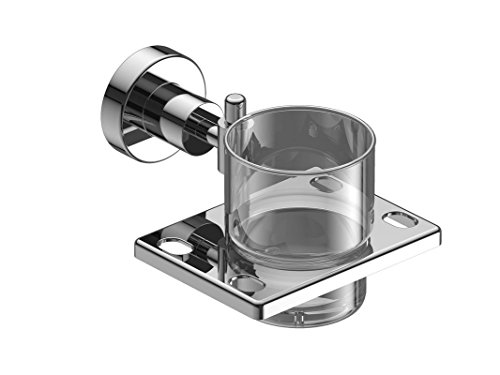 Amity Sogo Tumbler Holder | Toothbrush Holder, Wall Mounted for Bathroom and Wash Basin, High Grade Stainless Steel with Chrome Finish