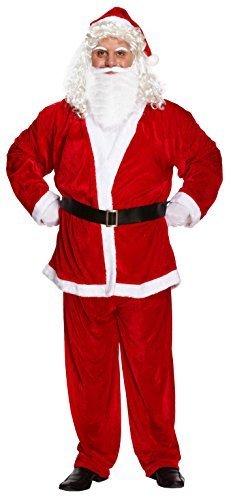 Luxus Erwachsene Weihnachten Weihnachtsmann Kostüm XXL Übergröße, Rot (Weihnachten Übergröße Kostüm)