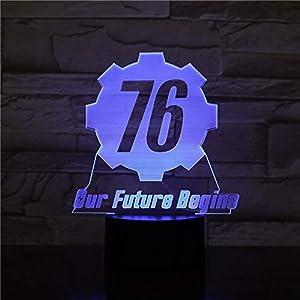 Fallout 76 Il Nostro Futuro Inizia Usb 3D Led Night Light Ragazzi Bambini Bambini Regali Per Bambini Luci Decorative Gioco Lampada Da Tavolo Comodino Fallout