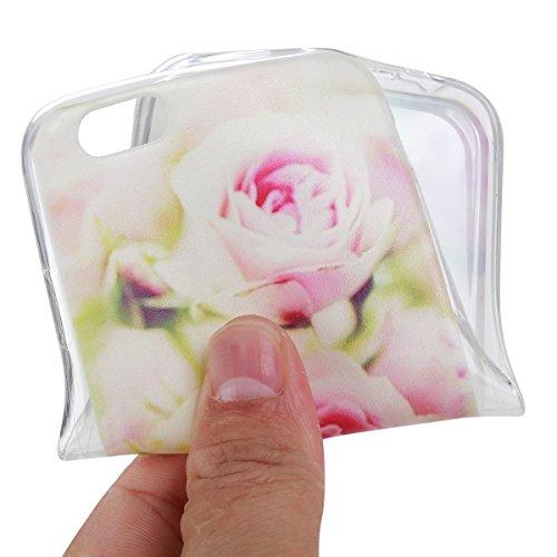 iPhone 6S Plus Hülle, iPhone 6 Plus Hülle, Gift_Source [ Wassermelone ] Hülle Case Transparent Weiche Silikon Schutzhülle Handyhülle Schutzhülle Durchsichtig TPU Crystal Clear Case Backcover Bumper Ca E1-Rose
