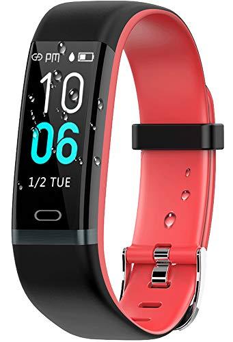 winisok fitness tracker ip68, orologio fitness braccialetto pressione sanguigna cardiofrequenzimetro da polso orologio con pedometro cronometro activity tracker