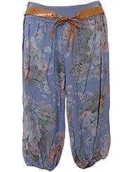 Damen Bermuda Shorts mit Gummibund und Gürtel, MADE IN ITALY