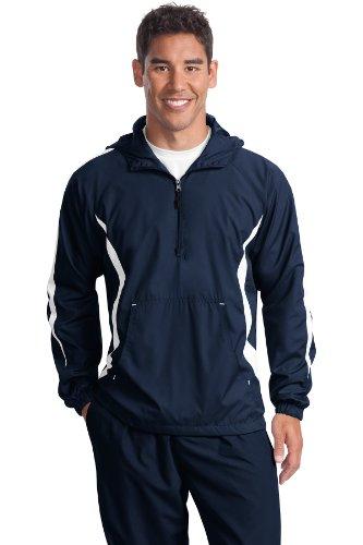 Sport-Tek -  Giacca sportiva - Uomo Blu - True Navy/White