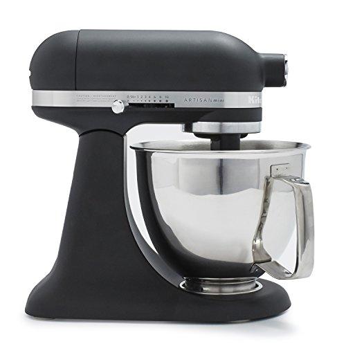 KitchenAid Artisan Mini 3.5 Quart Tilt-Head Stand Mixer, Black Matte (KSM3316XBM)