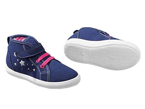 Kinder Mädchen Sneaker Blau Schuhe (30)