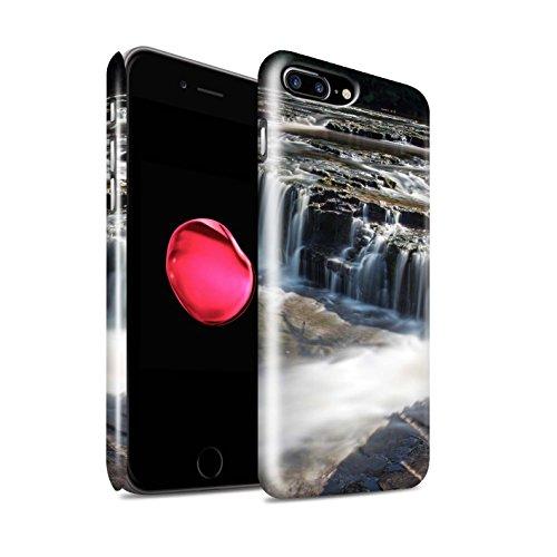 STUFF4 Glanz Snap-On Hülle / Case für Apple iPhone 8 Plus / Felsigen Stream Muster / Wasserfälle Kollektion Untiefe