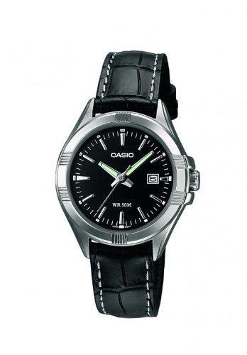 CASIO LTP-1308L-1AVEF – Reloj de mujer de cuarzo, correa de piel color negro