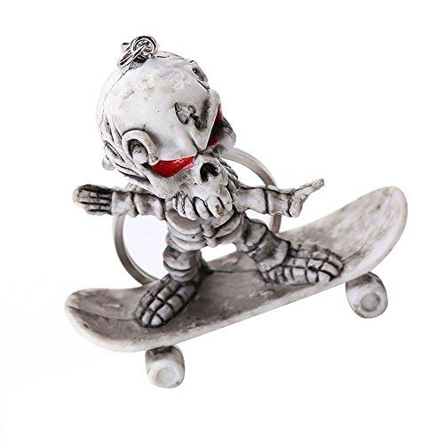skgardeniamy Coole Skull Skateboarding Schlüsselanhänger Tasche Hangings Schlüsselanhänger Handtasche Dekor Halloween