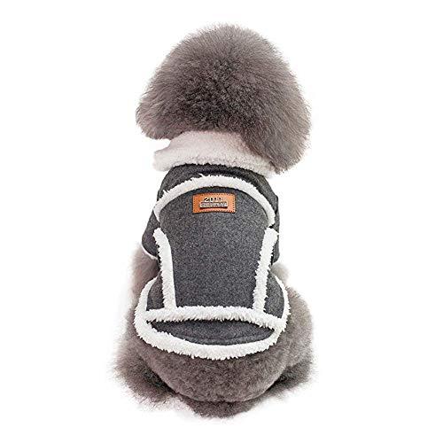 HYCy Haustier-Kostuuml;m, Winter Nordisch Baumwolle Warm Jacke Mantel Huuml;ndchen Kostuuml;m Klein Mittel 2 Beine Pet Kleidung