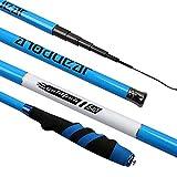 iPenty Ultra-hartes Ultra-Leichtes Angelrute Rod-Stange 3.6-6.3 m Carbon-Angelrute,Karpfenrute Karpfenangel Steckrute