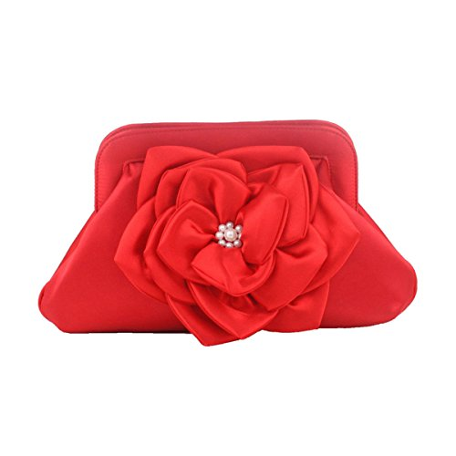 Della Cassa Della Borsa Della Frizione Delle Donne Borsa Per Le Donne Con La Catena Staccabile Red