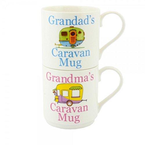 Grandad \'s & Grandma \'s Caravan Fine China Porzellan Tassen
