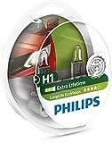 Philips 12258LLECOS2 LongLife EcoVision H1 Scheinwerferlampe, 2-er Kit