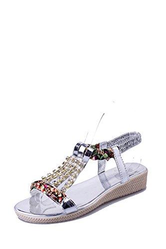 sandali di strass, donne moda scarpe corrispondono tutti vacanza beach scarpe sandali. 37