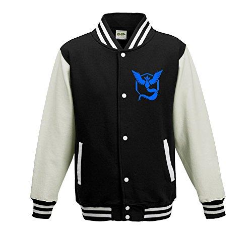 Bullshirt da bambini Team Mystic Varsity Jacket Black / White 12-14 Anni