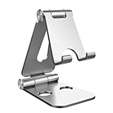Simpeak Soporte Tablet Compatible para Nintendo Switch, Multi-Ángulo Soporte de Aluminio Nintendo Switch Tablets Stand, Samsung Galaxy Tab, Huawei Accesorios, Otras Tabletas,Plata