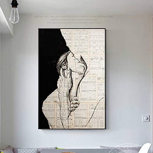 LIUXING-hm Dekor-Plakate Kunst for Schlafzimmer Wände Leinwand-Malerei Liebe Kuss-Druck-Plakat Bilder for Haus Schlafzimmer Wohnzimmer Dekoration Wandkunst (Farbe : Gold, Größe : 50x70cm) -