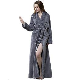 004cc2878d BELLOO Ladies Winter Flannel Dressing Gown Fleece Bathrobe Full Length  Loungewear