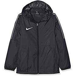 Nike Dry Park 18 Rain Chaqueta, Unisex niños, Negro (Black/White), L